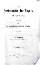 Die Fortschritte der physik ...