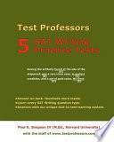 5 SAT Writing Practice Tests