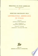 Repertorio bibliografico della letteratura americana in Italia