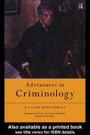 Adventures in Criminology
