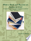 Write a Book and Become an Author for Fun