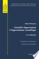 illustration du livre Scientific Opportunism L'Opportunisme scientifique