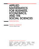 Applied mathematics for business  economics  and the social sciences