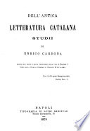 Dell antica letteratura catalana