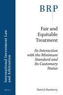 Fair and Equitable Treatment