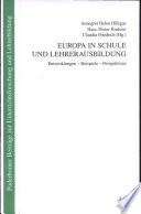Europa in Schule und Lehrerausbildung