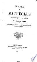 Le livre de Mathéolus