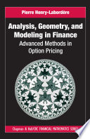 Analysis  Geometry  and Modeling in Finance