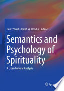 Semantics And Psychology Of Spirituality book