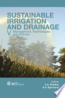 Sustainable Irrigation and Drainage V