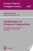 Mathematics of Program Construction