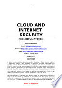 CLOUD AND INTERNET SECURITY
