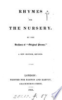 Rhymes for the nursery  by the author of Original poems