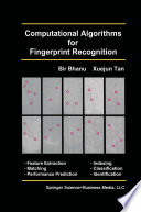 Computational Algorithms for Fingerprint Recognition Book PDF