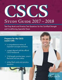 CSCS Study Guide 2017 2018