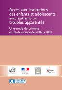 Acces Aux Institutions Des Enfants Et Adolescents Avec Autisme Ou Troubles Apparentes