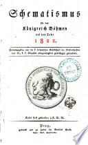 Schematismus für das Königreich Böhmen auf das Jahr 1822