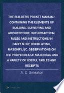 The Builder s Pocket Manual