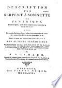 Description d'un serpent à sonnette de l'Amérique, joliment figuré, ayant deux longues rayes noires sur la tête & sur le col