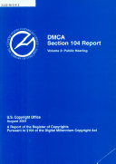 DMCA, Section 104 Report, A Report Of The Register Of Copyrights Etc., Volume 3, August 2001 : ...