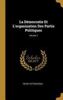 La démocratie et les partis politiques