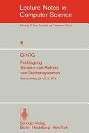 GI-NTG Fachtagung Struktur und Betrieb von Rechensystemen
