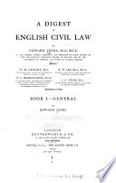 A Digest of English Civil Law  General  by Edward Jenks