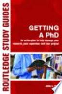 Getting A Phd