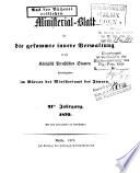 Ministerial Blatt F R Die Gessamte Innere Verwaltung In Den K Niglich Preussischen Staaten