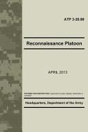 Reconnaissance Platoon Atp 3 20 98
