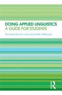 Doing Applied Linguistics Book