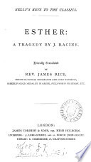 Esther A Tragedy Literally Tr By Rev J Rice