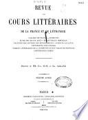 Revue des Cours Litteraires de la France et de L Etranger