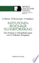 Institutionen regionaler Technikförderung