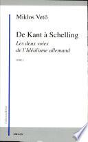 De Kant    Schelling