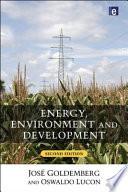 Energy  Environment and Development