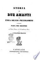 Storia di due amanti di Enea Silvio Piccolomini in seguito papa Pio secondo
