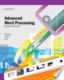 Advanced Word Processing  Lessons 56 110  Microsoft Word 2010