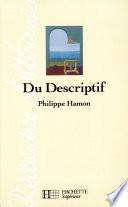 Du descriptif   Edition 1993