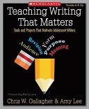 Teaching Writing that Matters