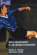Sport governance in the global community