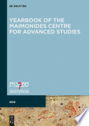 Yearbook of the Maimonides Centre for Advanced Studies  2016