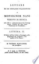 Lettera II   Il Credo dell  Ab  Collini e Compagni  colla spiegazione del medesimo  e di quello di Fr   Marco