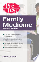 Family Medicine PreTest Self Assessment   Review  Second Edition