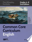 Common Core Curriculum English Grades 6 8
