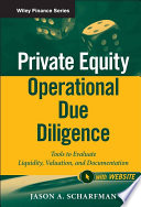 Private Equity Operational Due Diligence