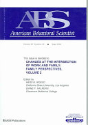 Changes at the Intersection of Work and Family  Volume 2