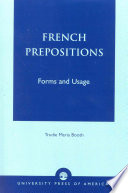 French Prepositions Of Both Simple And Compound Prepositions And