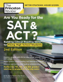 Are You Ready for the SAT and ACT   2nd Edition