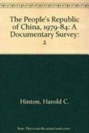 The People s Republic of China  1979 1984
